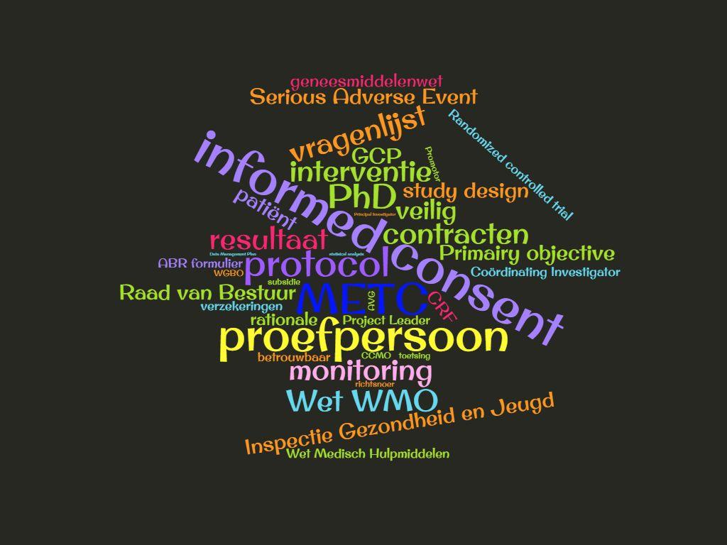 Wordcloud medisch wetenschappelijk onderzoek